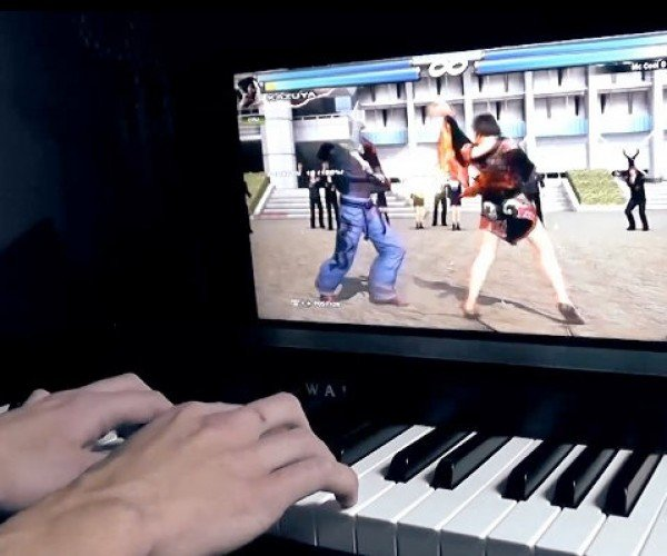 Guy Plays Tekken Using an Electric Piano