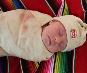 Wrap Up Your BurriTOT in This Tortilla Swaddle Blanket