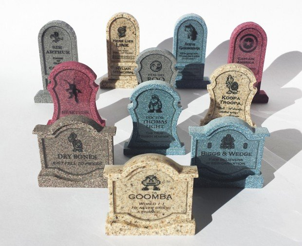 video game character tombstones by chinook crafts 620x505