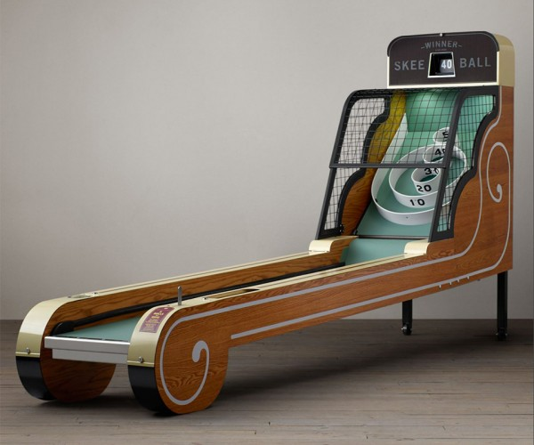 Vintage Arcade Skee-Ball Machine: Quarters Not Required