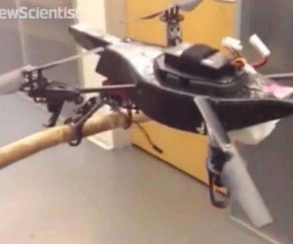 Two-Legged Quadcopter Can Perch, Walk & Stalk: Gerwalk Mode
