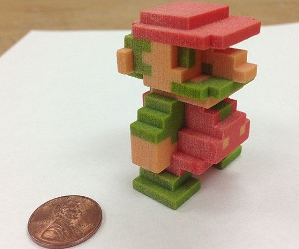3D Printed Super Mario: Pixels to Voxels