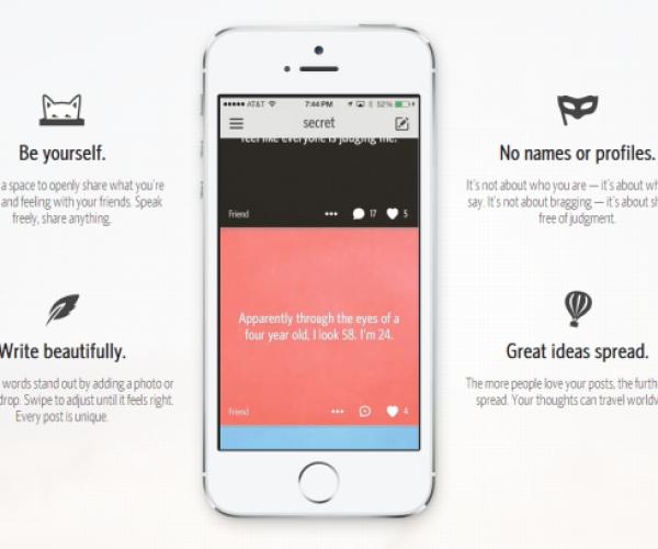 'Secrets' App Offers an Anonymous Way of Sharing Secrets