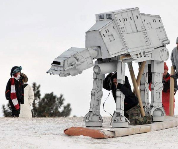 Star Wars AT-AT Walker Sled: The Empire Slides Back