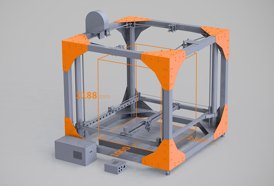 Bigrep one 3d printer is big enough to print furniture 3dxl for Furniture 3d printer