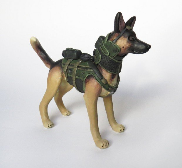 call of duty dog riley figurine by BabbitsBoutique 2 620x572