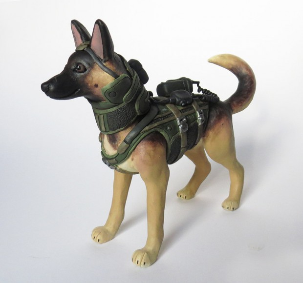 call of duty dog riley figurine by BabbitsBoutique 620x580