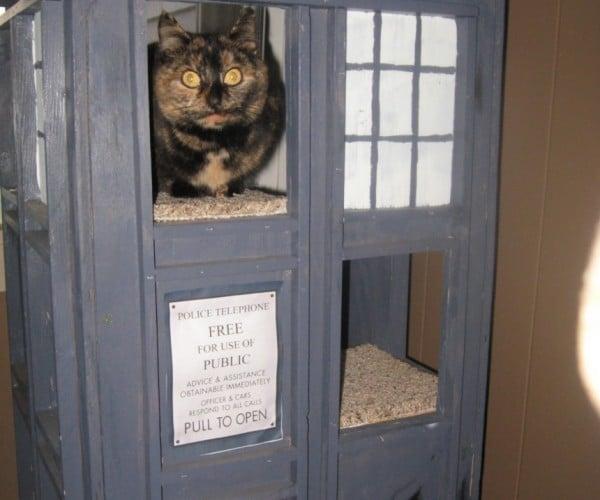 TARDIS Cat Condo for Peter Ca-Paw-di