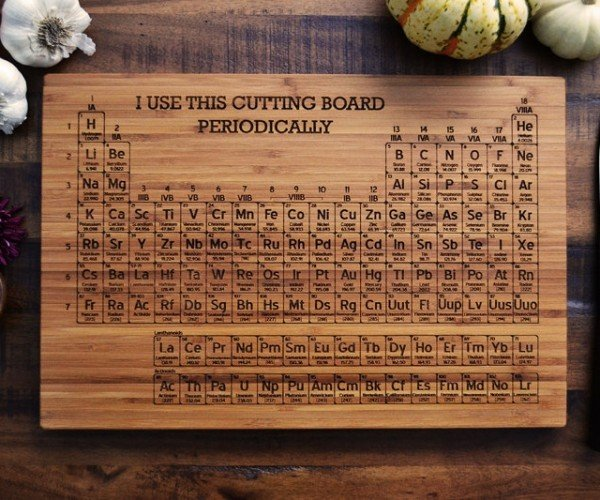 Scientific Cutting Boards for Kitchen Geeks