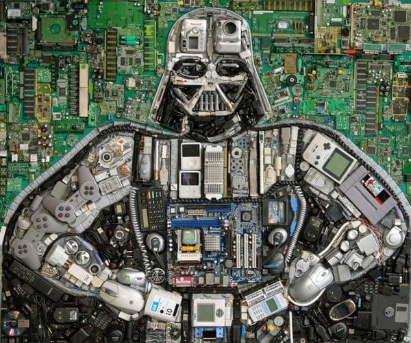 Darth Vader Made from Old Gadgets