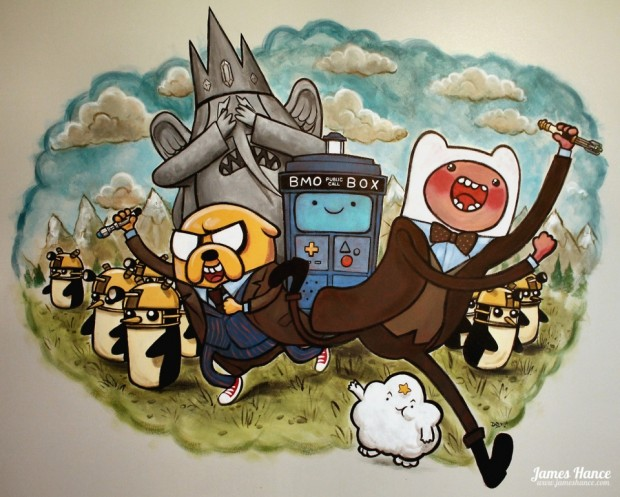 doctor who adventure time 620x497