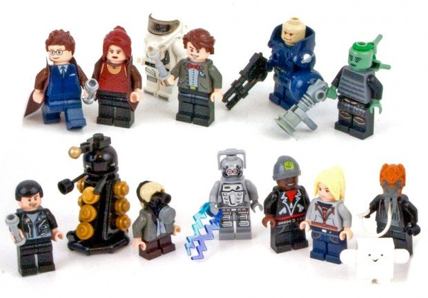 doctor who lego minifigs 620x431
