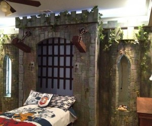 Medieval Drawbridge Murphy Bed: Alligator-filled Moat Sold Separately