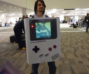 Game Boy Costume Uses Huge Cartridges to Switch Games