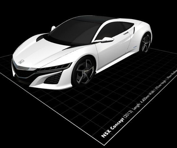 Honda Concept Cars 3D Models: You Would Download a Toy Car