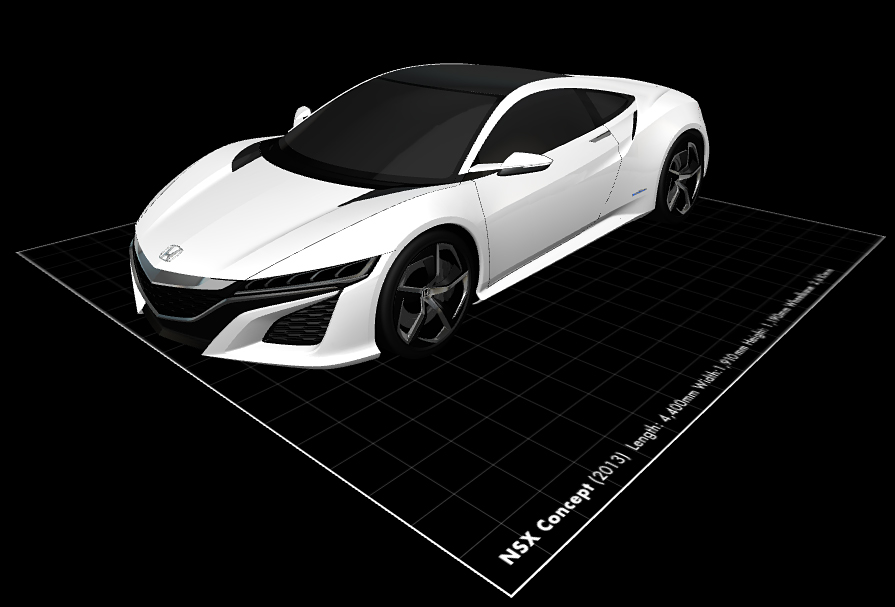 Honda concept cars 3d models you would download a toy car for Mobel 3d download