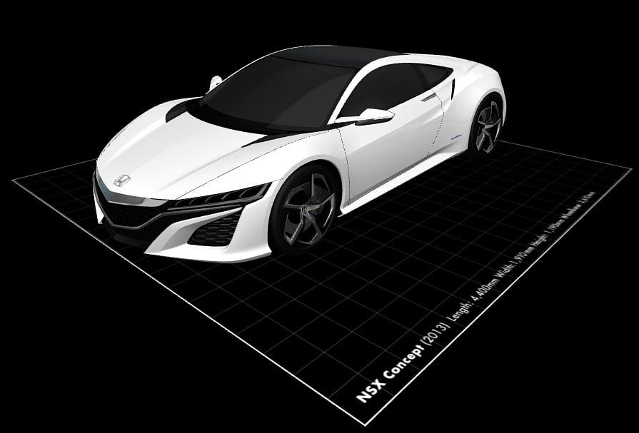 3d model concept car скачать