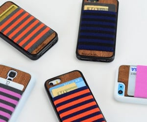 JimmyCASE Wood iPhone/Samsung Galaxy S4 Case Doubles as a Wallet