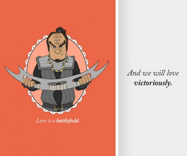 Klingon Valentine's Day Cards: Perhaps Today is Good Day to Write