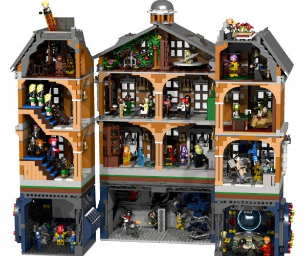LEGO X-Men X-Mansion Concept: A Home for Gifted Minifigs