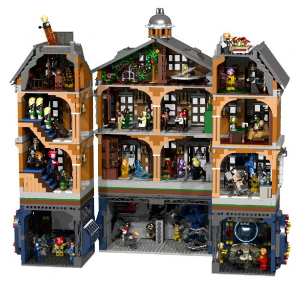 lego x men x mansion concept by glen bricker 620x576