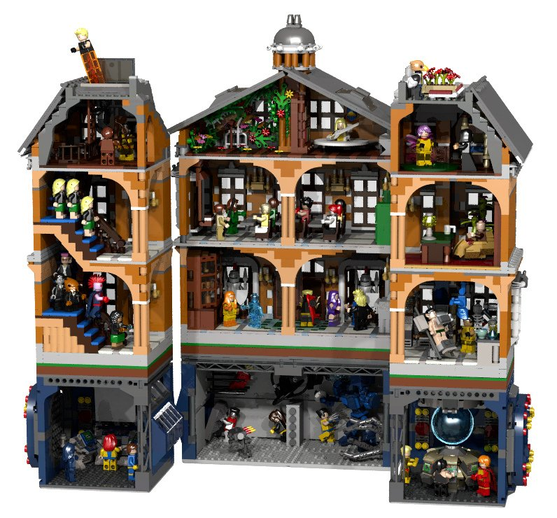 lego x men x mansion concept a home for gifted minifigs technabob. Black Bedroom Furniture Sets. Home Design Ideas
