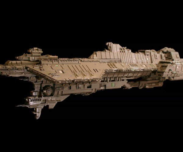 7 Foot-long Halo Ship Made out of LEGO