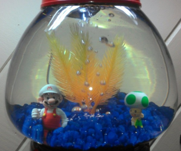 Super Mario Gumball Machine Aquarium: Do Mushrooms Grow Underwater?