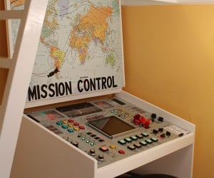 Dad Builds Kid Awesome Mission Control Desk