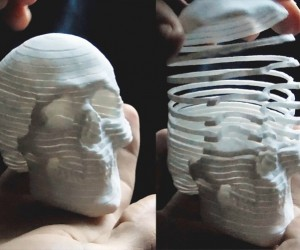 This 3d-Printed Skull Is Also a Slinky