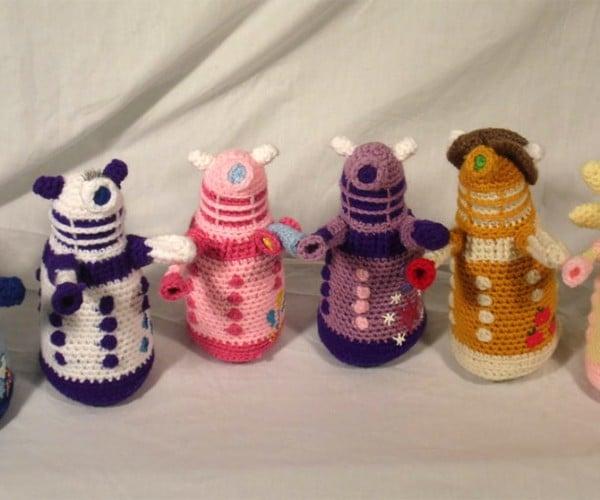 Crocheted My Little Daleks: Friendship Is Extermination