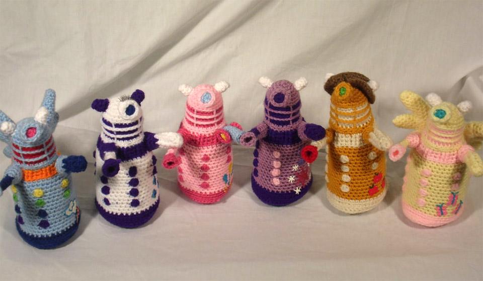 Crocheted My Little Daleks Friendship Is Extermination