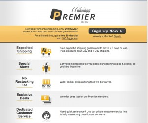 Newegg Takes on Amazon Prime with Newegg Premiere