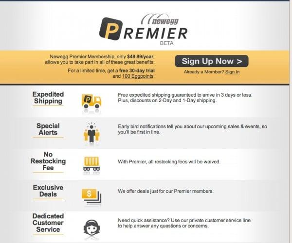 Newegg Takes on Amazon Prime with Newegg Premiere