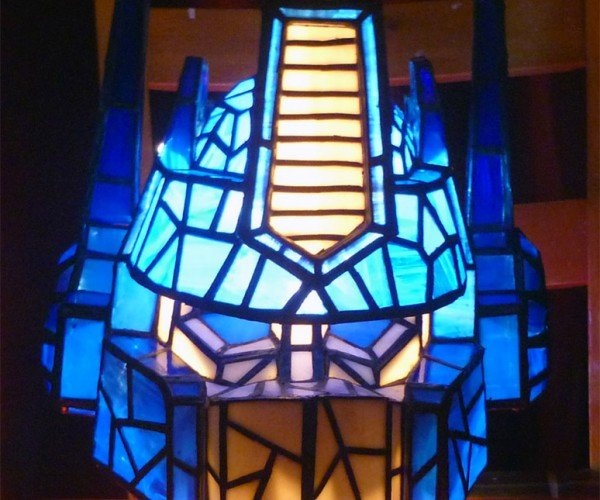 Optimus Prime Stained Glass Lamp: Light Bulb in Disguise