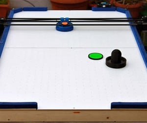 3D Printer Turned into Air Hockey Robot: It Prints, It Scores!