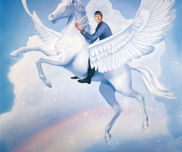 Spock Riding a Unicorn over a Rainbow…Fascinating