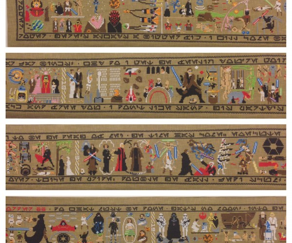 Star Wars 30-foot Cross Stitch: The Coruscant Tapestry