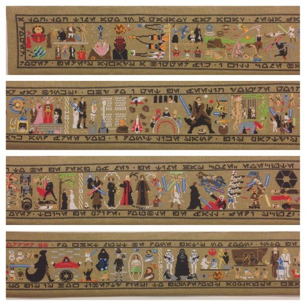 star wars coruscant tapestry cross stitch by aled lewis 2 620x620