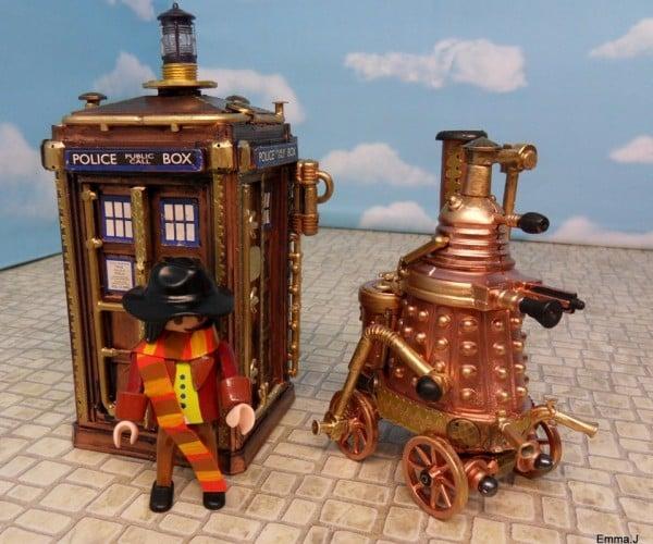 Steampunk Tardis and Dalek Deserve Their Own Show