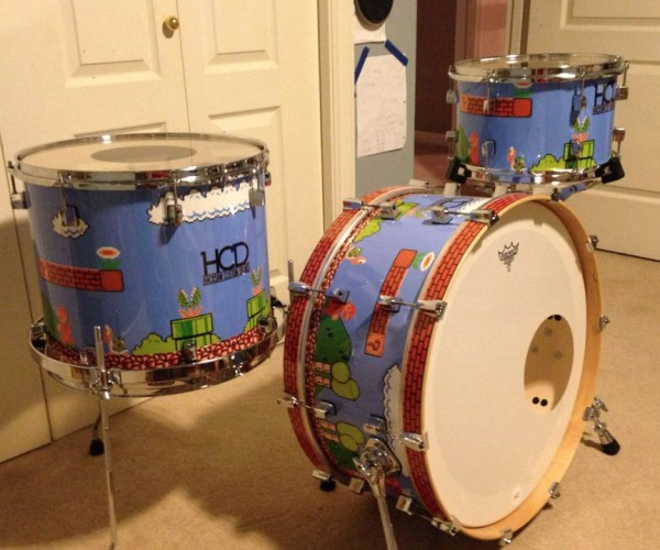 Custom Super Mario Drum Kit: What, No Donkey Konga?