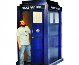 Full-Size TARDIS Replica Made from Cardboard