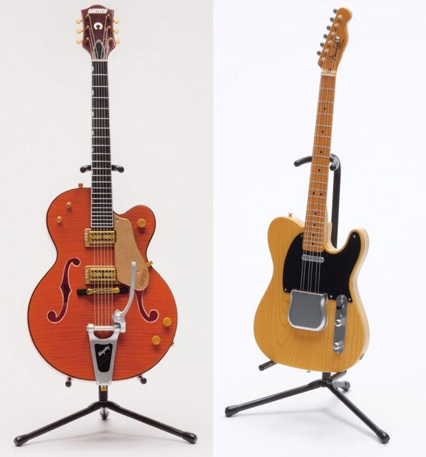 tiny gibson fender guitars 620x665