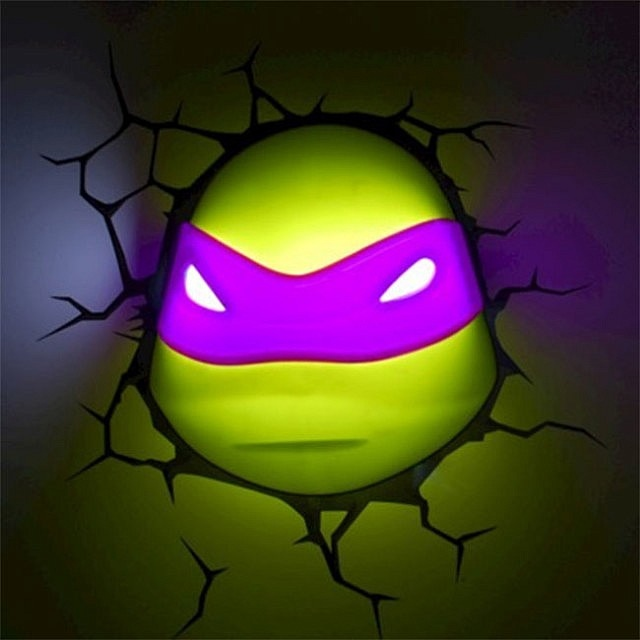 Ninja turtles 3d nightlight cowabunga dude technabob - Turtle nite light ...