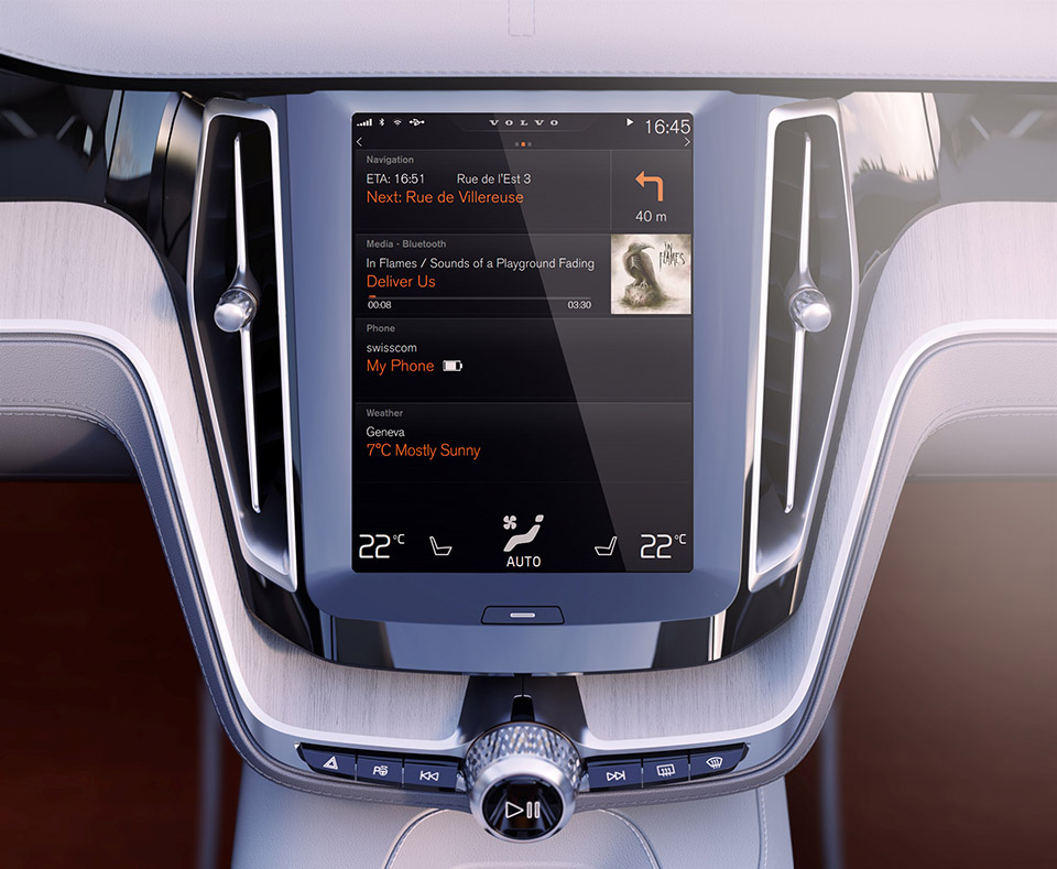 Volvo Brags About New In-Car Experience Using a Large ...