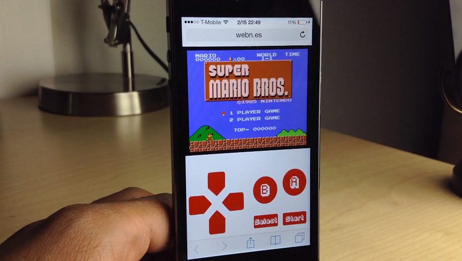nes emulator iphone webnes runs nes on mobile device browsers free from 9878