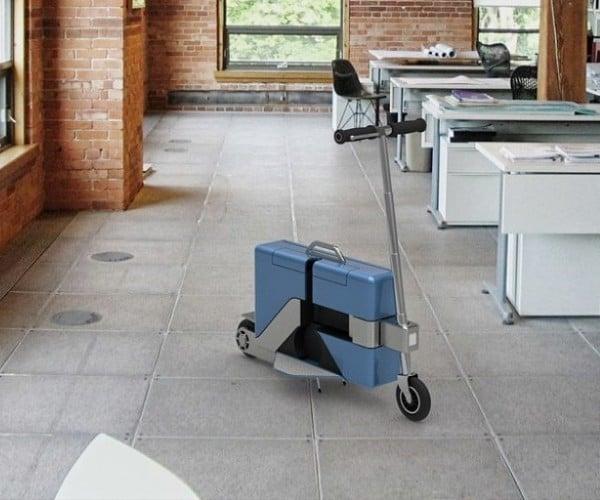 Commute-Case: It's a Briefcase, It's a Scooter