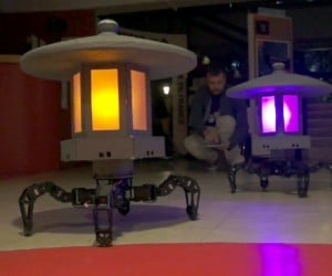 Walking Robot Lamps are Light on Their Feet