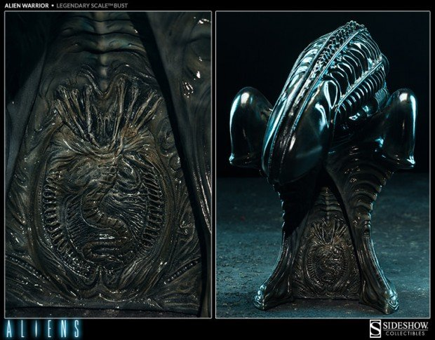 alien legendary scale warrior bust by sideshow collectibles 5 620x485