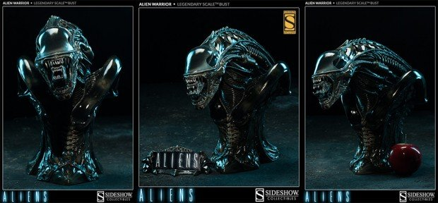 alien legendary scale warrior bust by sideshow collectibles 620x288